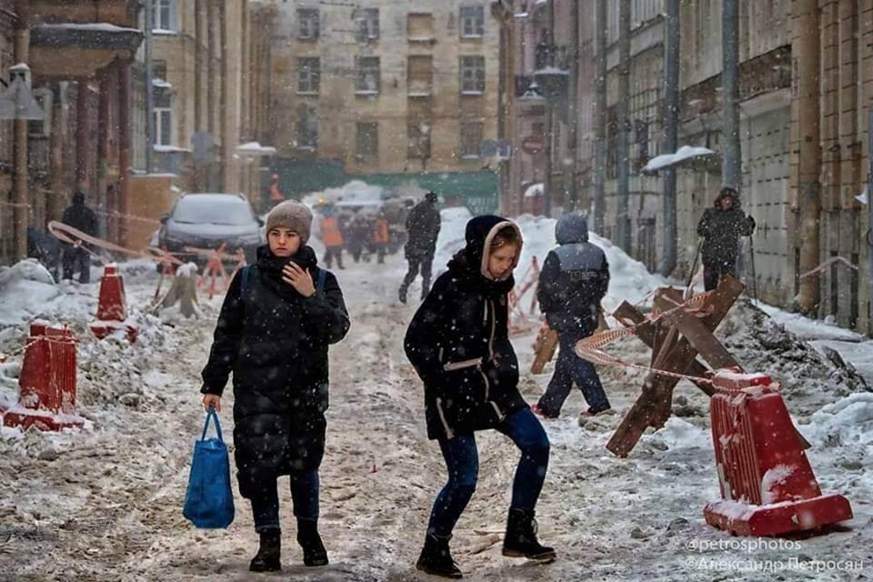 Гололед в Санкт-Петербурге